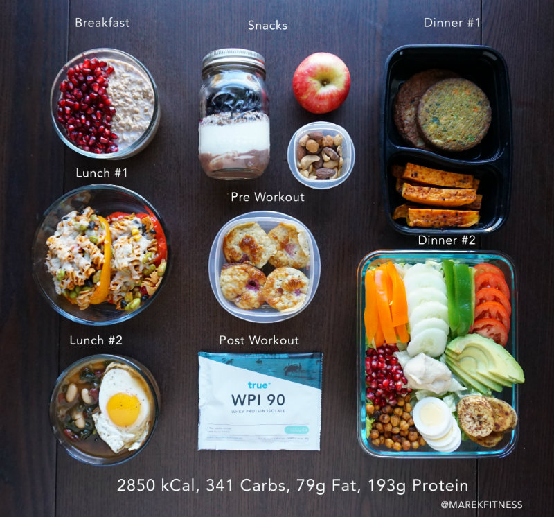 marek fitness vegetarian meal prep