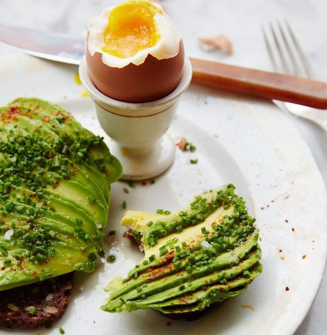 boiled eggs and avo