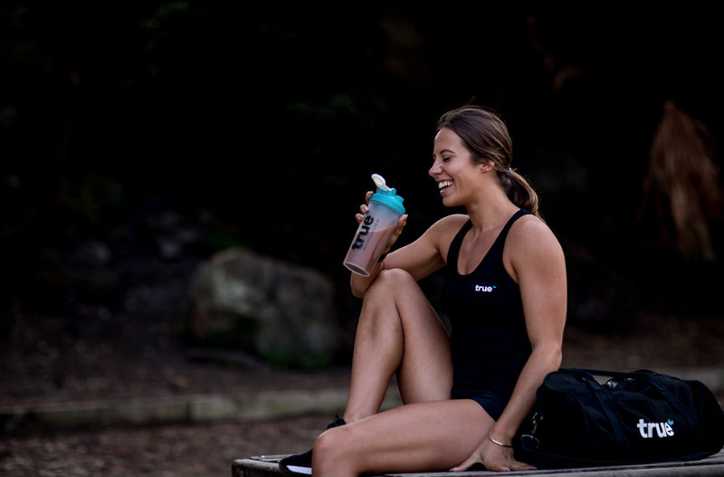 Athlete Drinking a Protein Shake