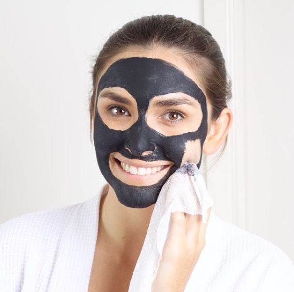 Charcoal face mask blackout mask